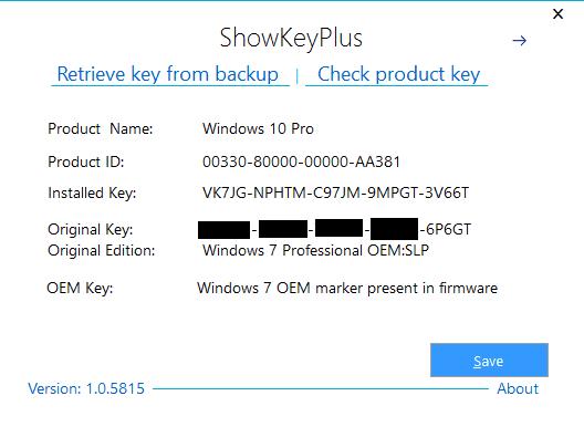 activer Windows 10 avec la clé de licence