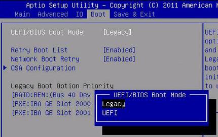 boot mode uefi
