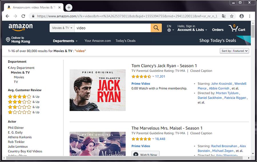 télécharger les vidéos 4K à Amazon