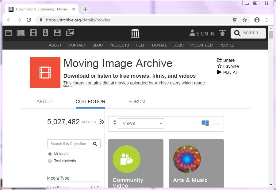 site de téléchargement archive