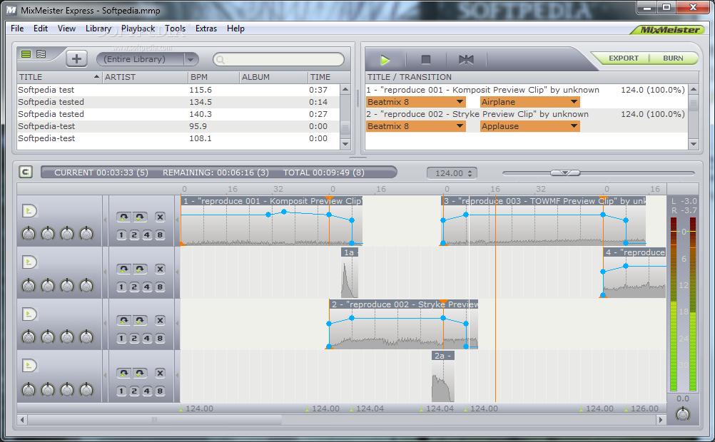 MixMeister Express est un logiciel de mixage audio