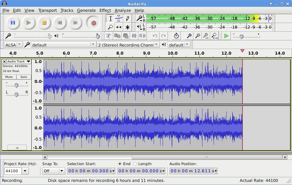 audacity pour le mixage audio