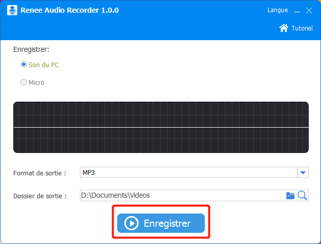 enregistrer son de PC avec renee audio tool
