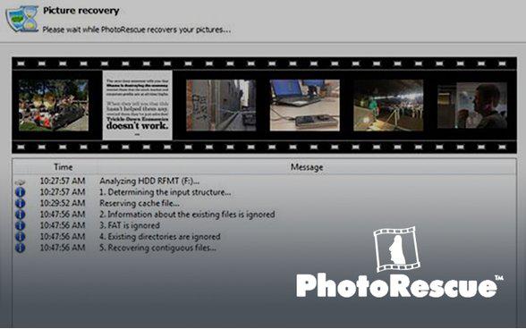 Photorescue pour retrouver les fichiers image