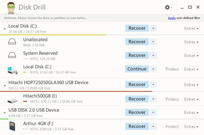 récupérer les données de la carte micro SD avec Disk-Drill