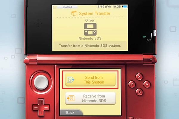 envoyer les données depuis le système de 3DS