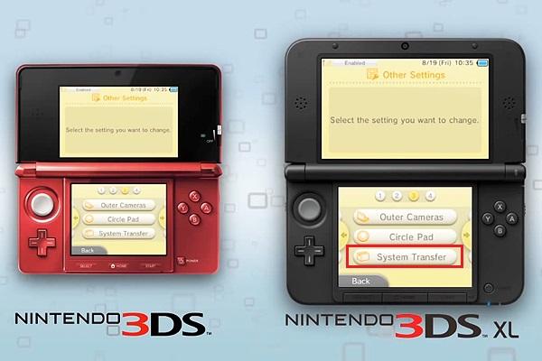transfert de données sur 3DS