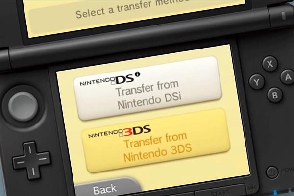 transfert de données depuis 3DS