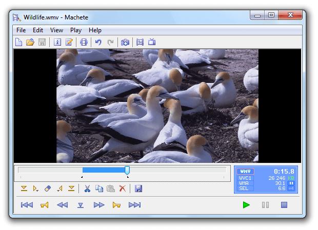 logiciel Machete pour couper une vidéo gratuit