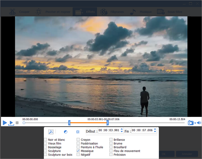 ajouter des filtres à la vidéo