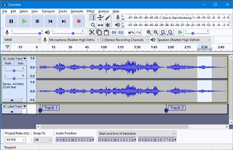 éditer audio gratuitement avec audacity