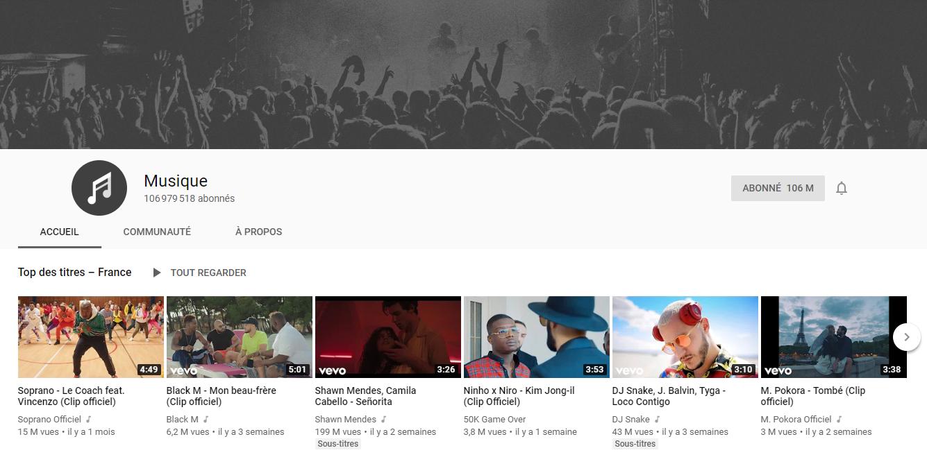 chaîne musique pour télécharger la musique YouTube
