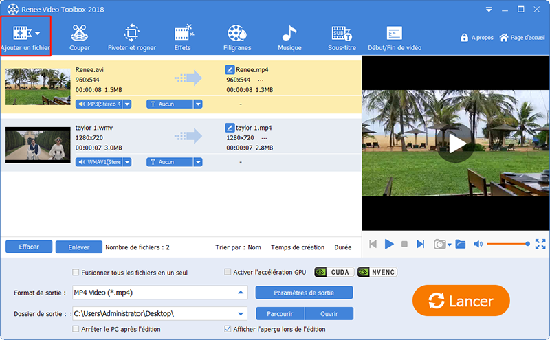 ajouter les vidéos à convertir au format vidéo compatible avec iPhone