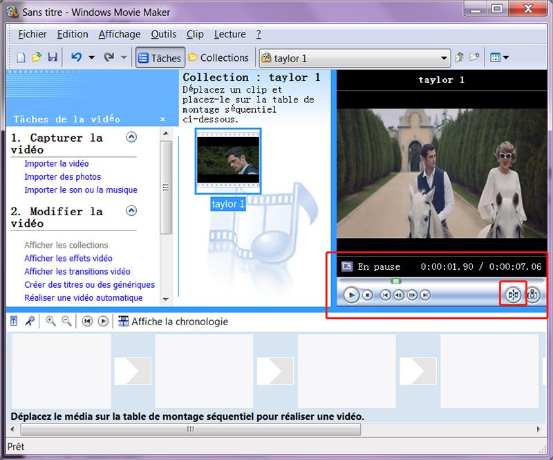 couper une vidéo avec Windows Movie Maker