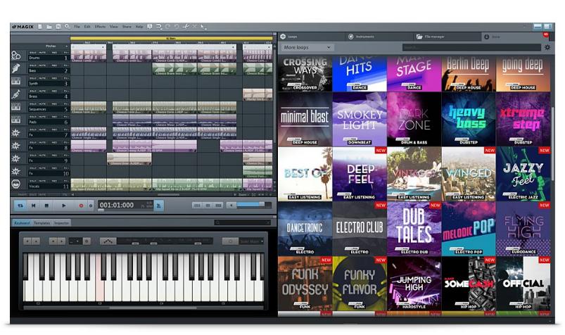 logiciel pour couper musique: Magix music maker