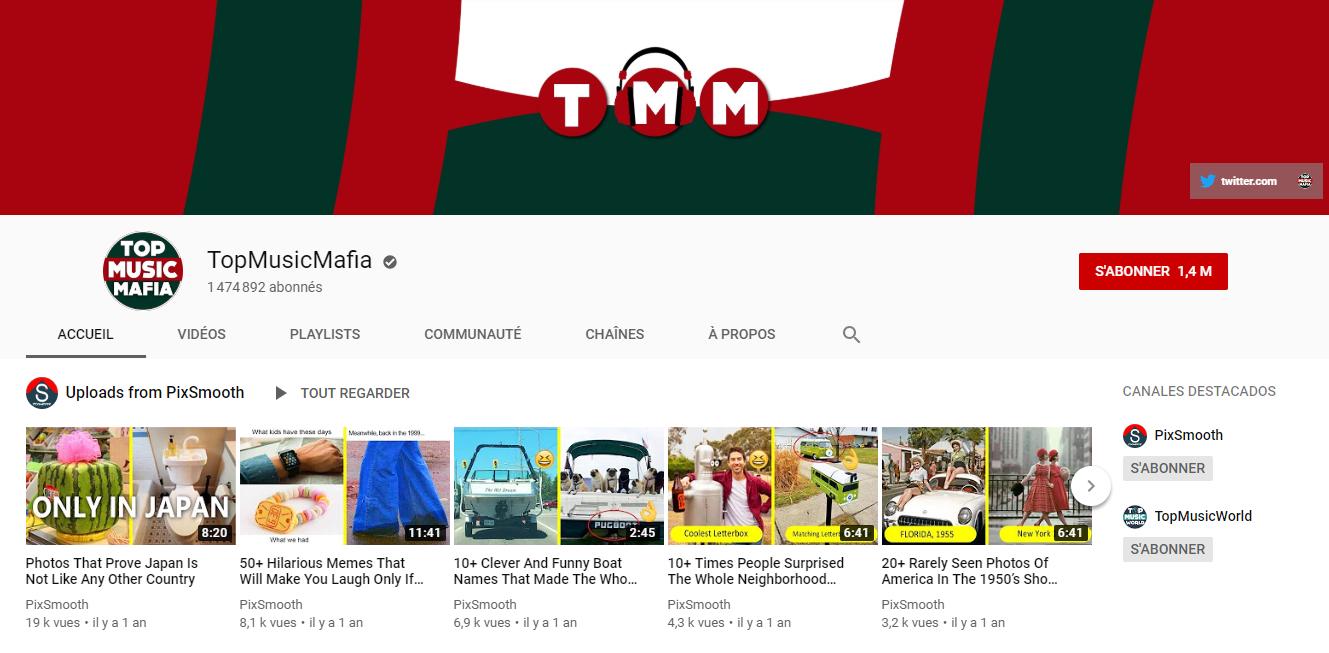 chaîne de top music mafia