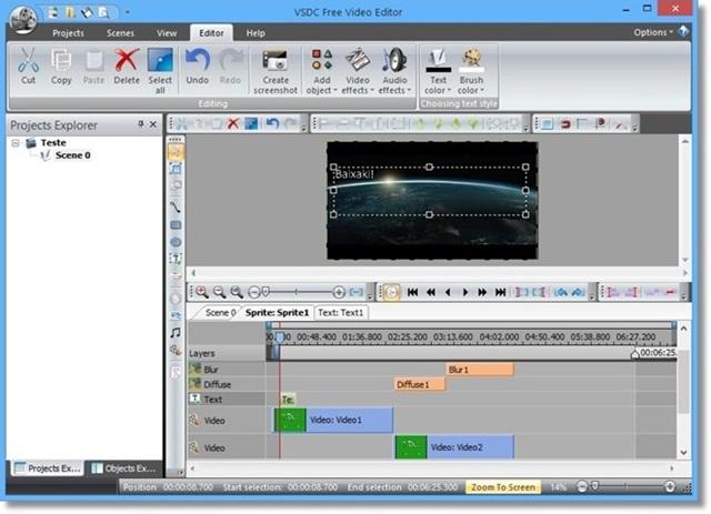 logiciel pour couper une vidéo gratuit vsdc