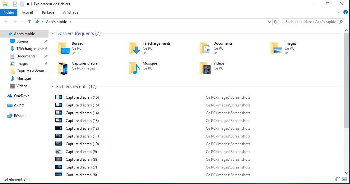 sous Windows 10 ne pas afficher les fichiers récents