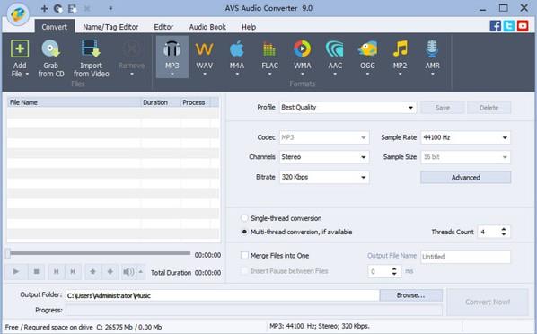 convertir le format AC3 en autre format avec AVS Audio Converter