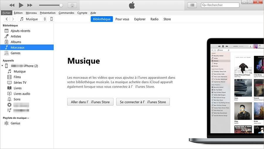 Téléchargez et ouvrez iTunes sur votre ordinateur