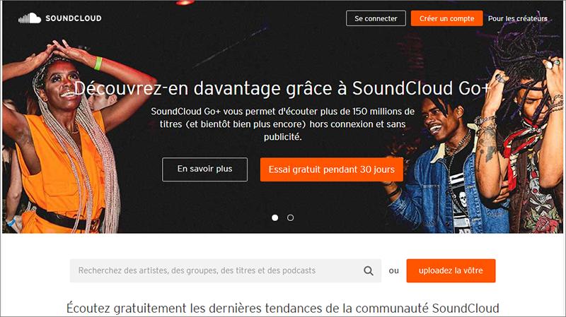 télécharger les musiques sur le site Soundcloud