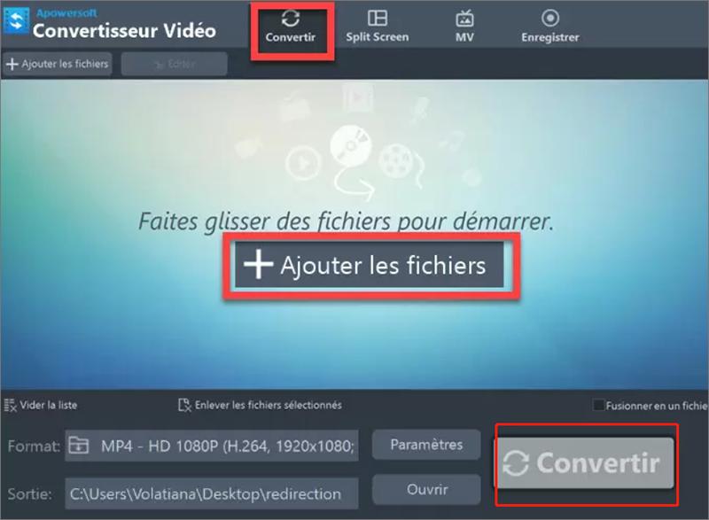 Éditer le fichier MTS avec Convertisseur Apowersoft