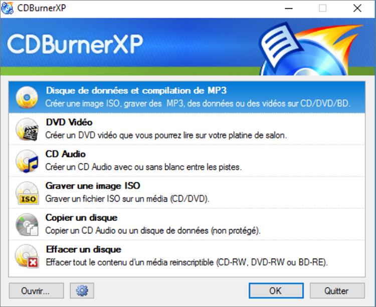 découvrir comment graver un CD à partir de YouTube avec CD burnXP