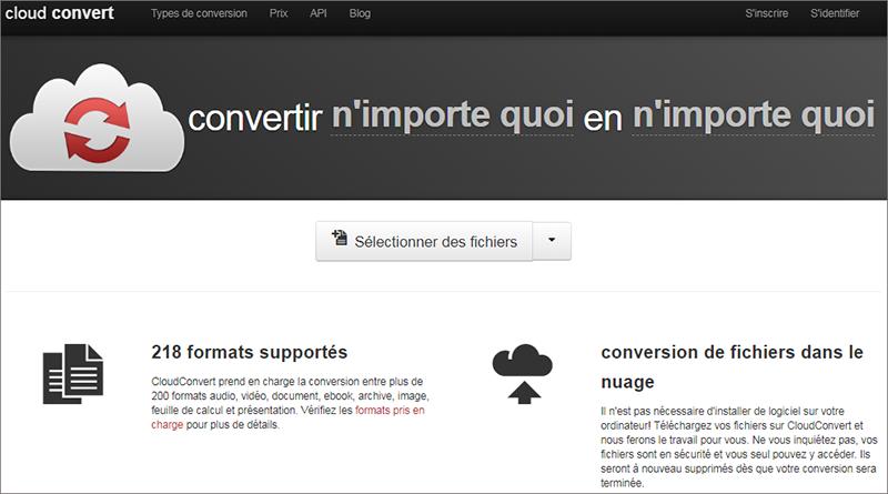 convertisseur Cloudconvert