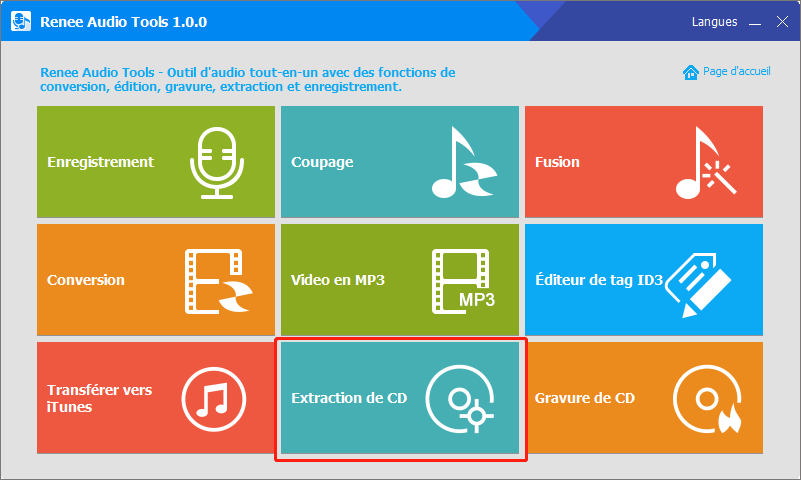 extraire les pistes audio sur CD avec Renee Audio Tools