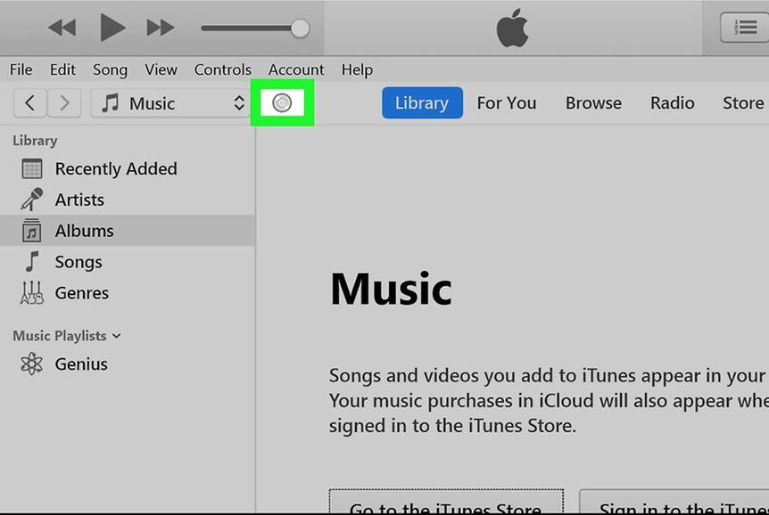cliquer sur l'icône CD