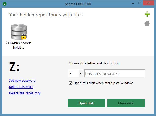 disque virtuel dans Secret Disk