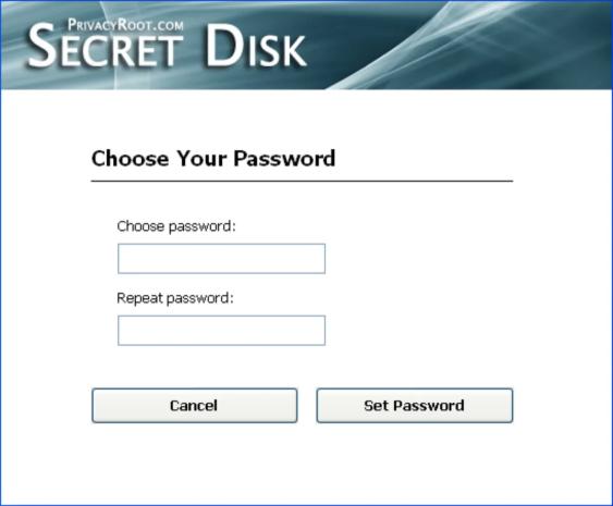 créer un mot de passe pour Secret Disk