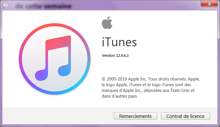vérifier la version iTunes