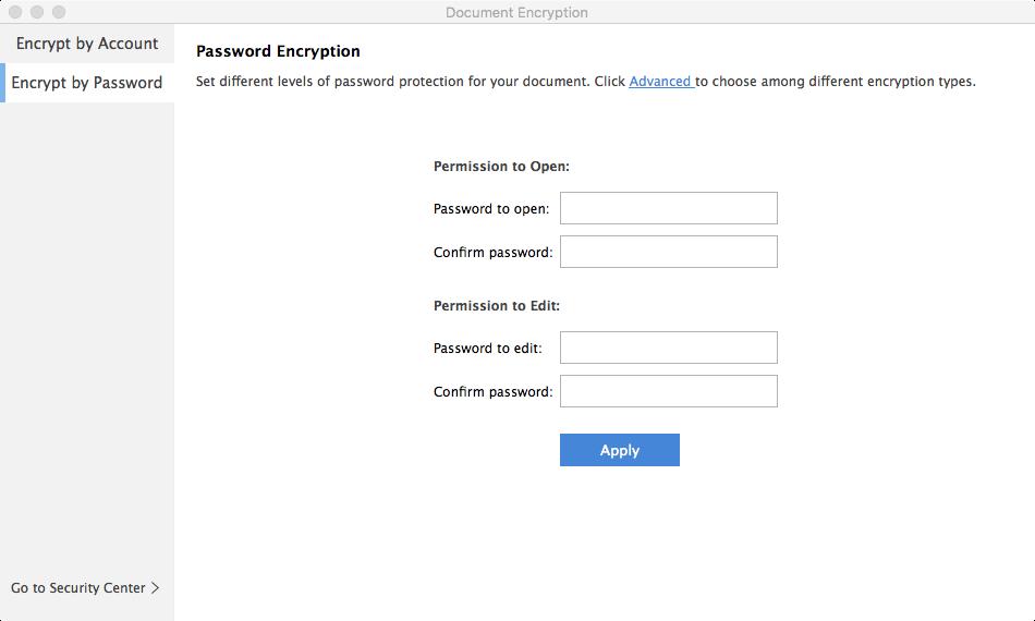 créer un mot de passe pour le fichier