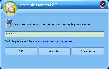 mot de passe pour lancer Renee File Protector