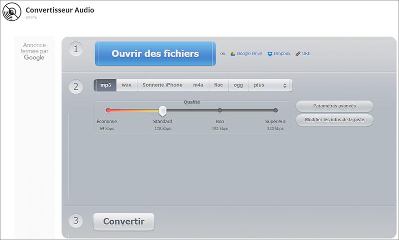 convertir le format de fichier audio avec le convertisseur audio en ligne Onlineaudioconverter.com