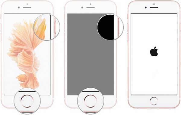 redémarrer forcément iPhone