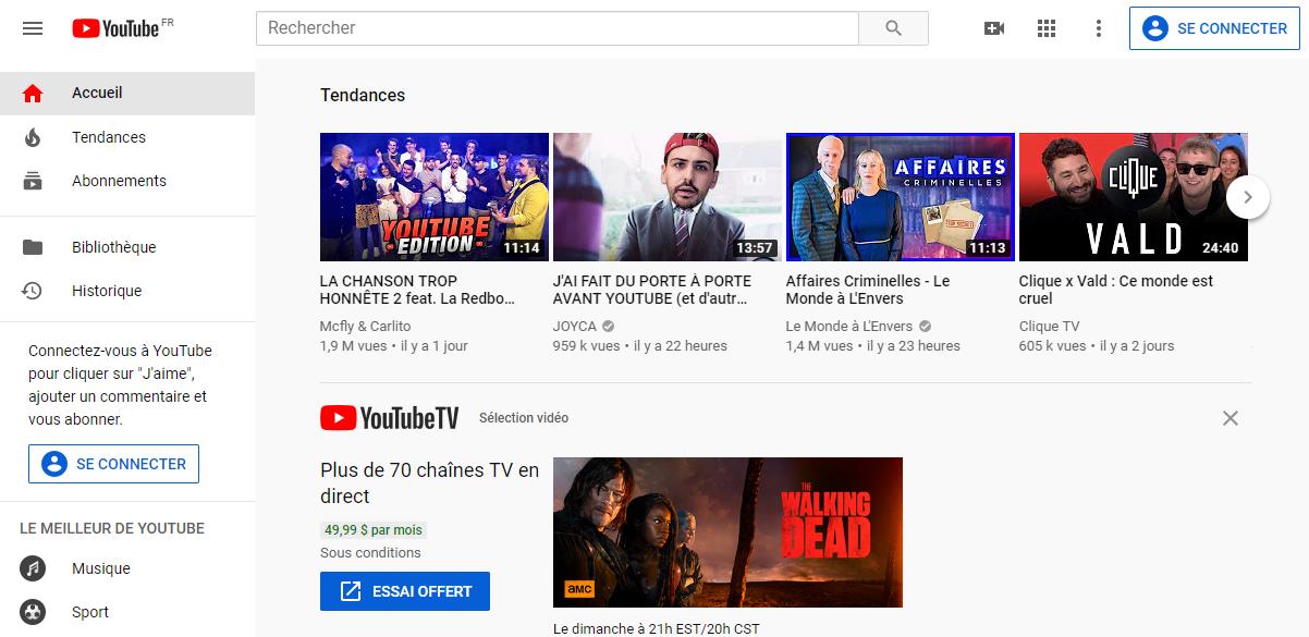 Site de vidéo YouTube
