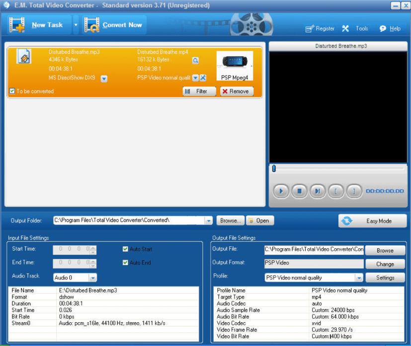 convertir le format de vidéo avec Total video converter