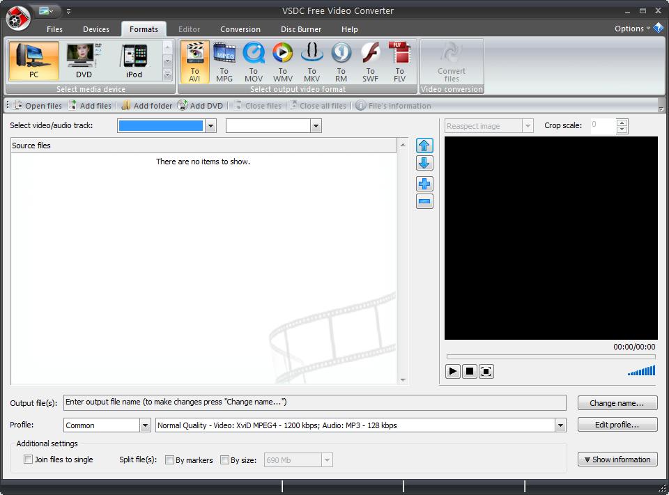 VSDC FREE video editor est un convertisseur vidéo gratuit