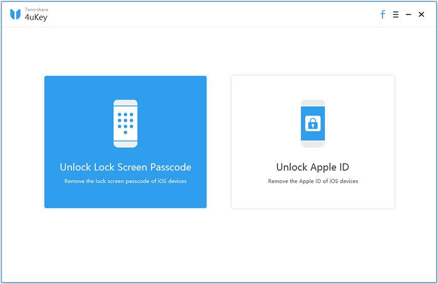 4uKey pour supprimer le mot de passe d'iPhone