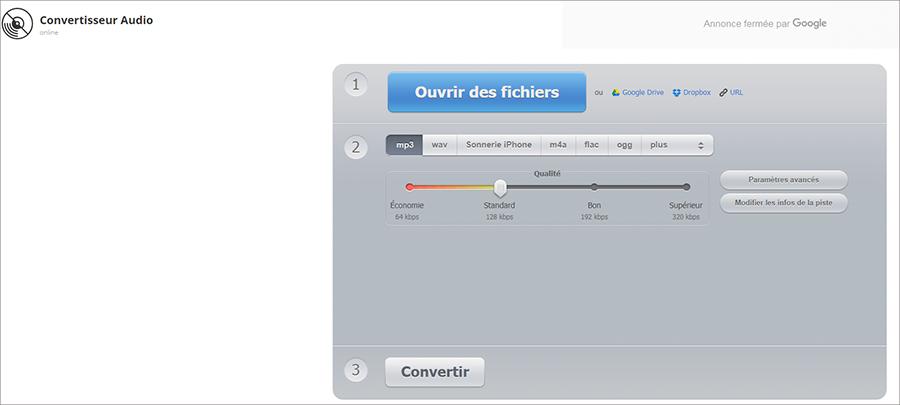 Convertisseur en ligne – Audio Converter