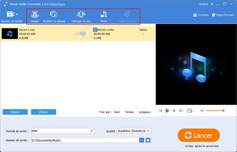 optimiser le fichier audio avec les outils