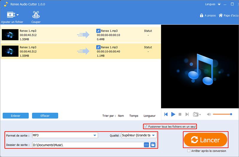 assembler des fichiers MP3 avec Renee Audio Tools