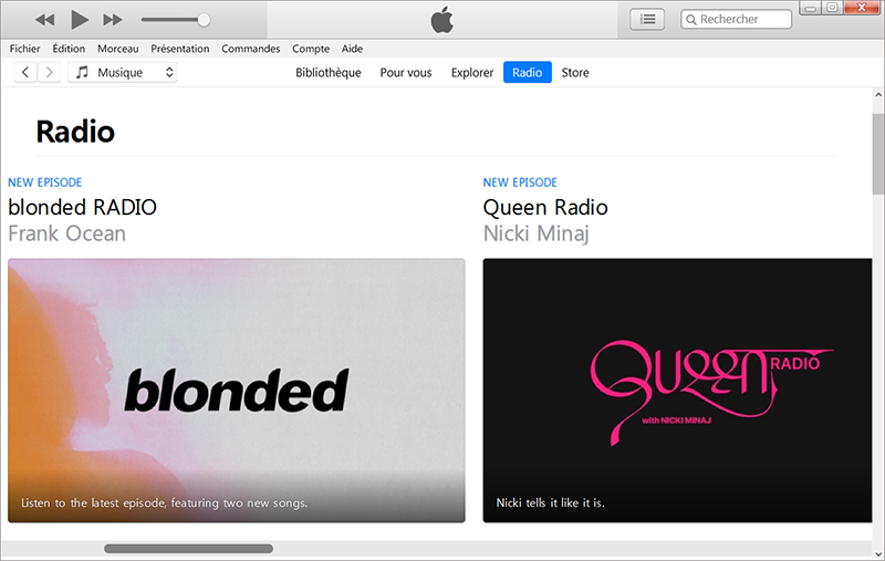 lire fichier m4a avec iTunes