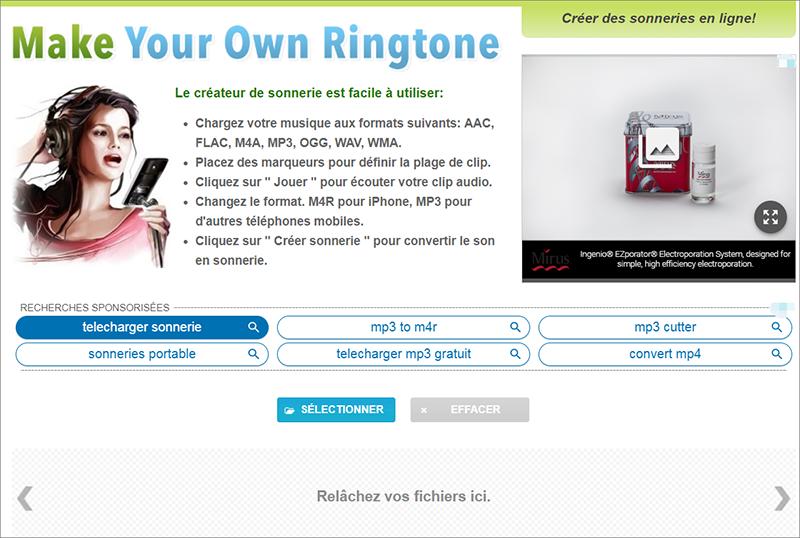 éditer le fichier audio sur le site de montage audio en ligne Makeownringtone