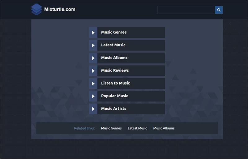 obtenir les musiques sur le site Mixturtle