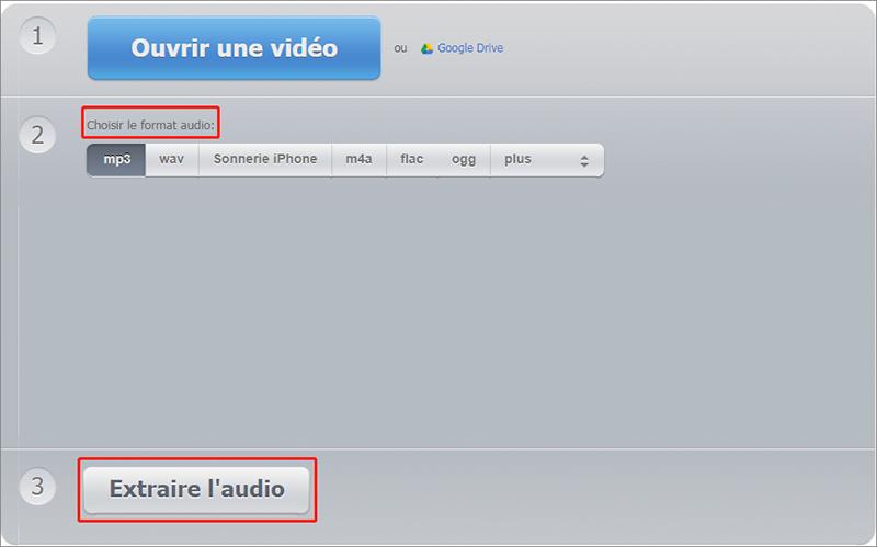 extraire le son d'une vidéo en ligne avec Audioextractor