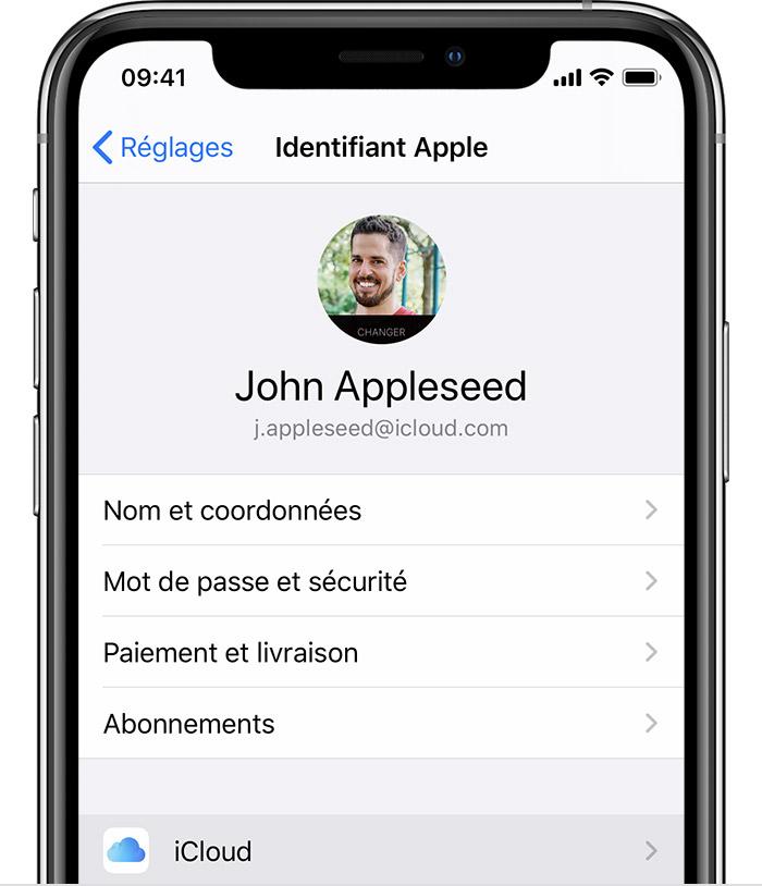 sauvegarder les données avec iCloud