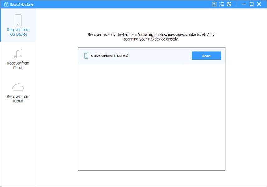EaseUs MobiSaver pour récupérer les fichiers